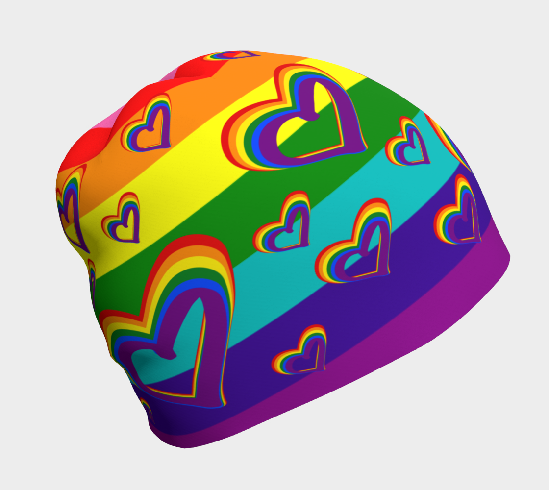 LGBTQ Gay Pride LGBT Rainbow Flag Hearts Funny Colorful Pattern preview