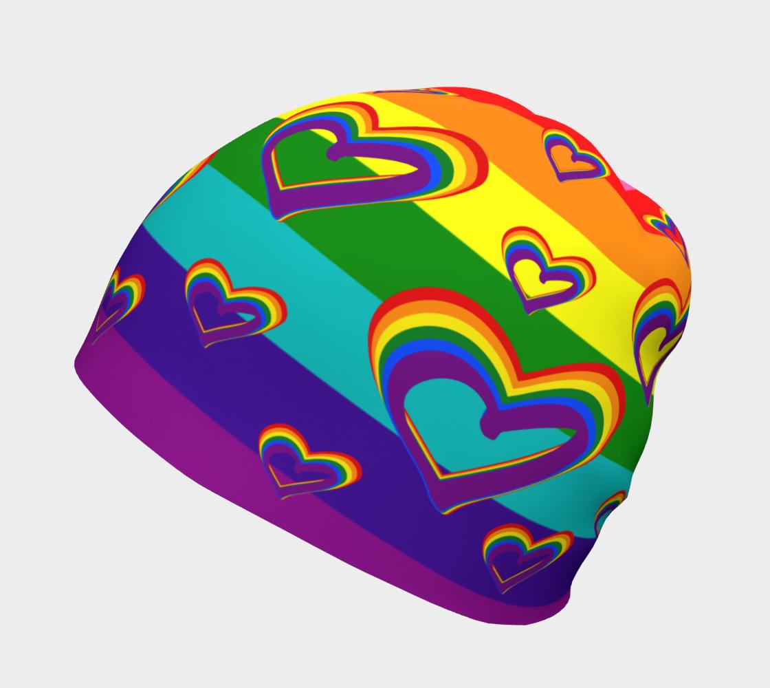 Aperçu de LGBTQ Gay Pride LGBT Rainbow Flag Hearts Funny Colorful Pattern #2