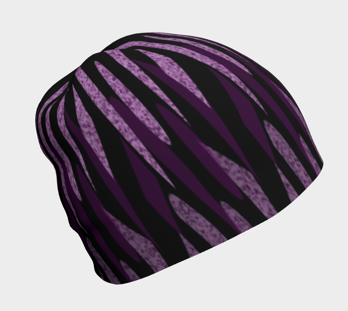 Purple Ice Abstract Beanie preview