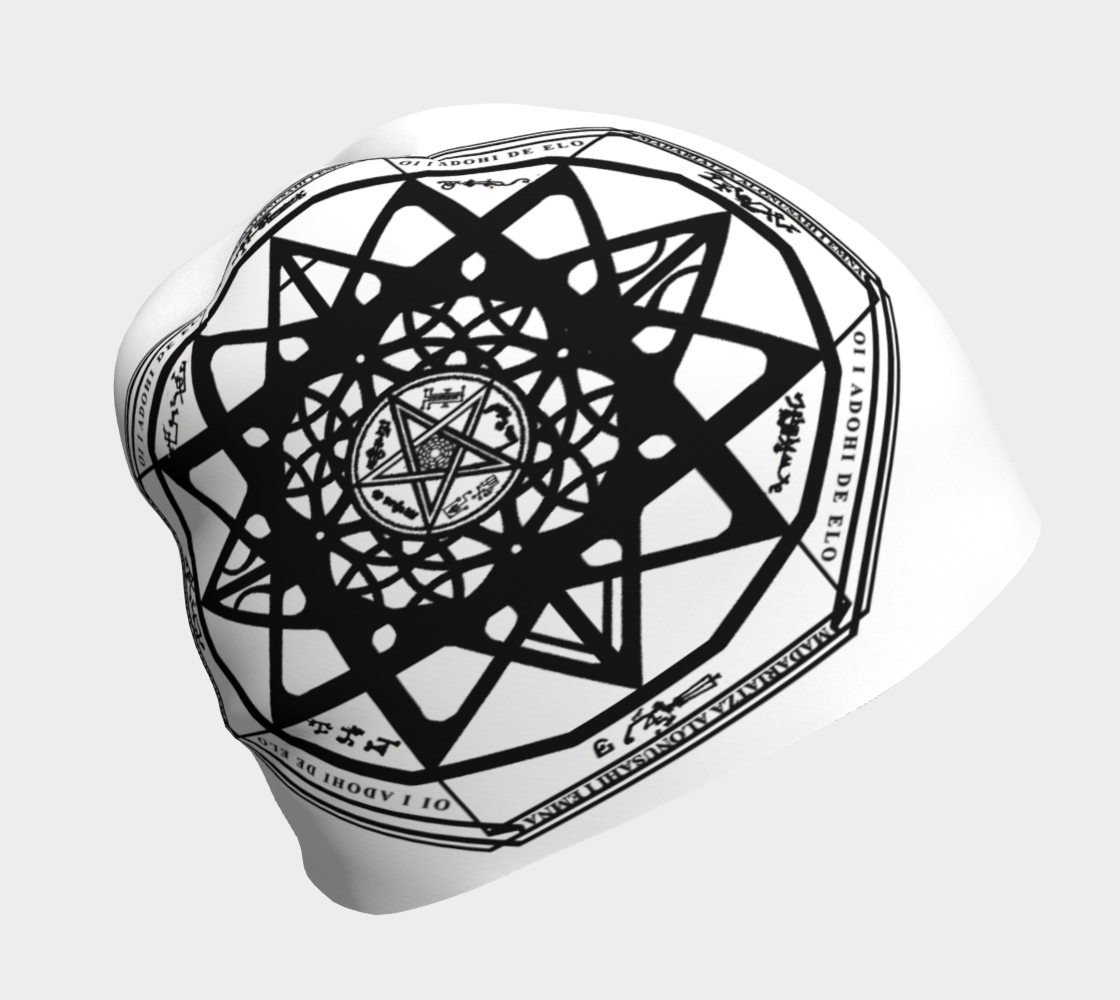 Protection Sigil Beanie 3D preview
