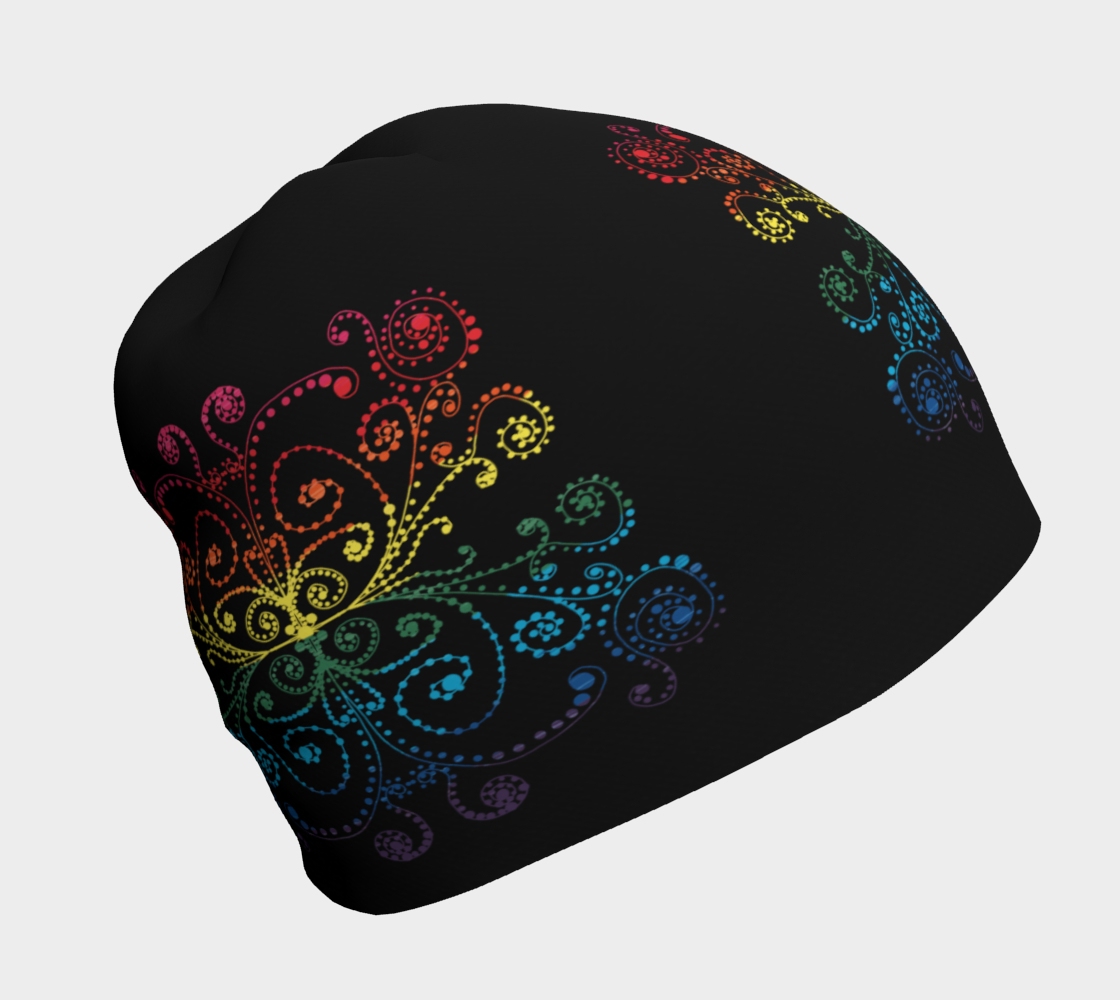 Black With Pride Flag Swirls and Dots Doodle Graphic Design preview