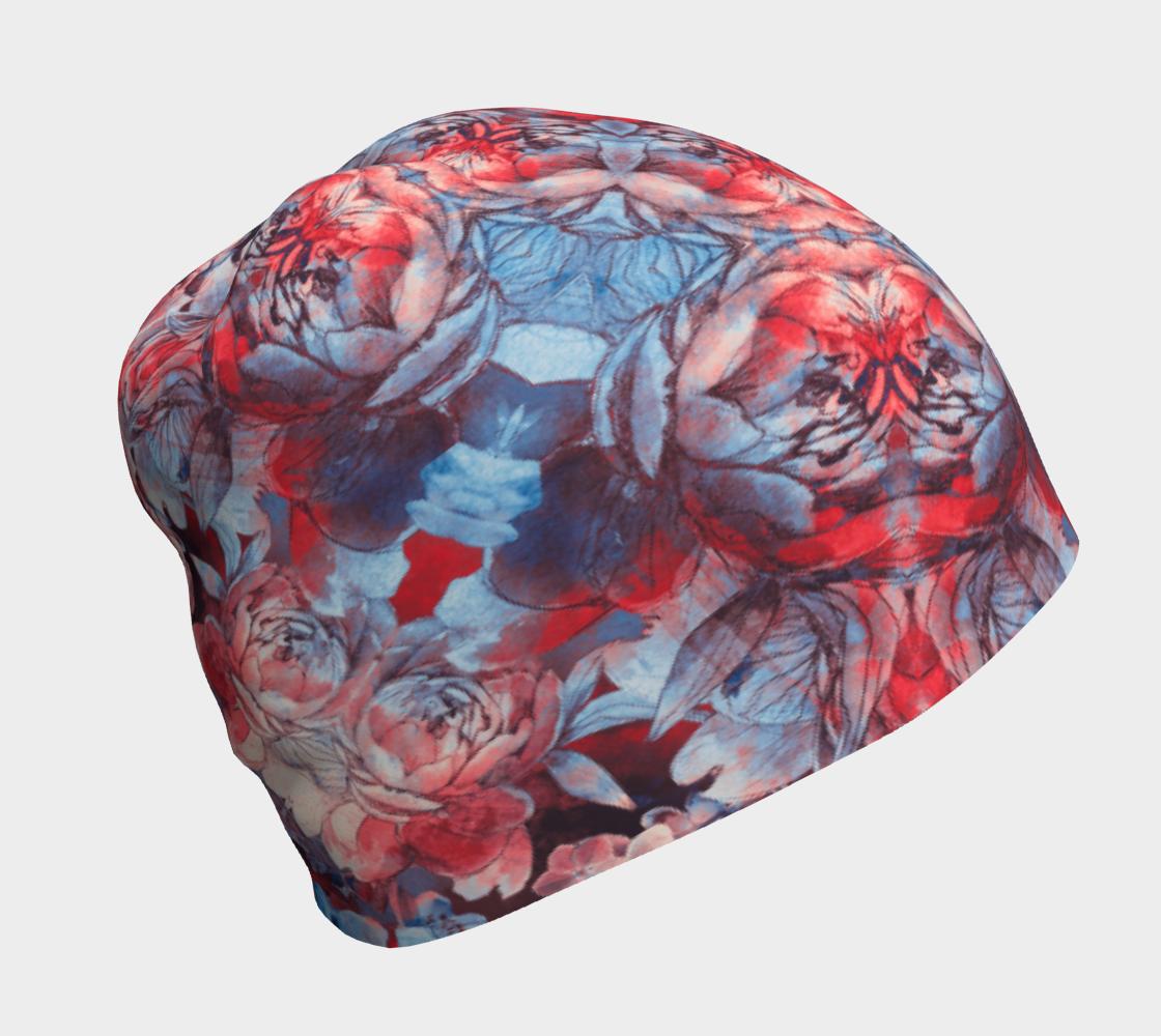 Aperçu de red and blue art #beanie
