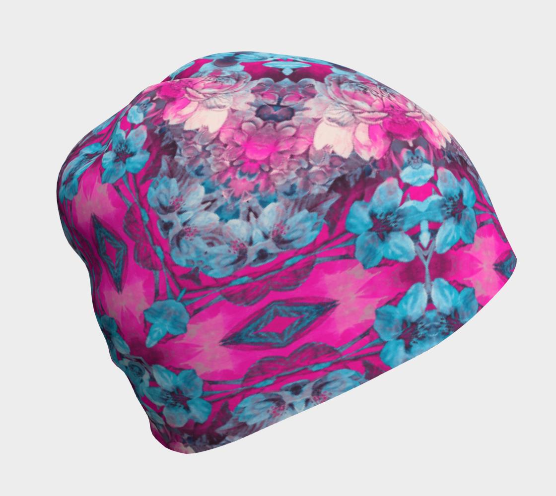 Aperçu de pink and blue art #beanie
