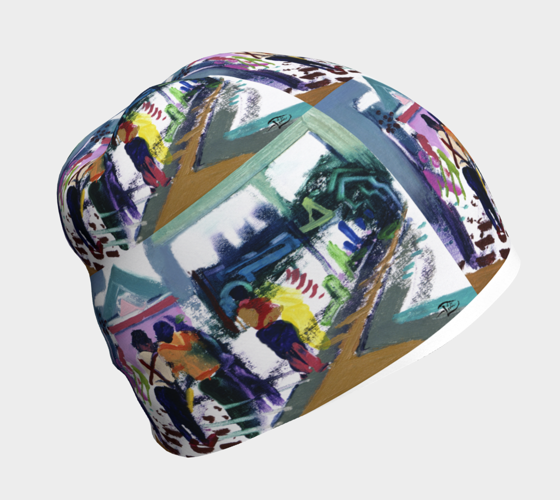 Shrine Temple Art-Match Beanie by Lowell S.V. Devin preview