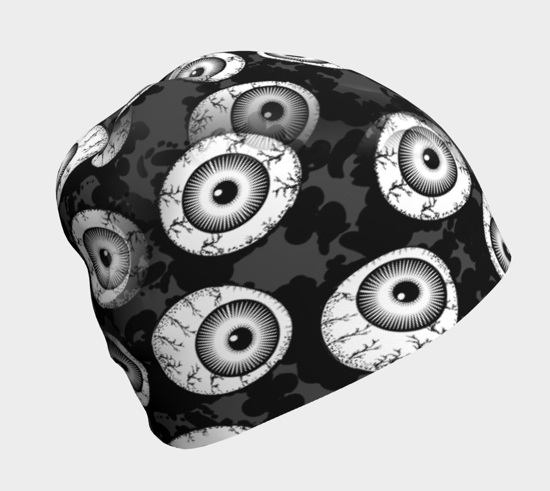 Creepy Eyeballs Black and White aperçu