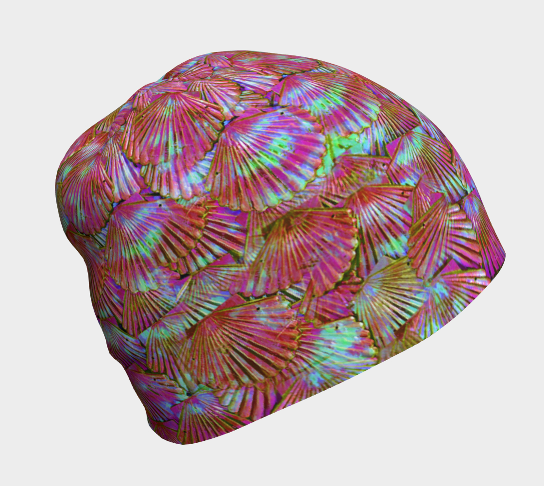 Peachy Keen Mermaid Scale Beanie 3D preview