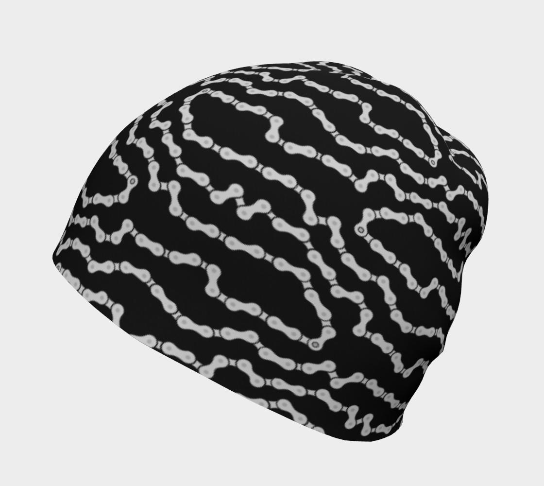 Bike Chain Beanie Hat - Black preview #2