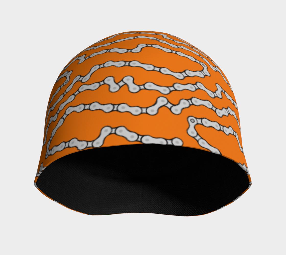 Aperçu de Bike Chain Beanie Hat - Orange #3