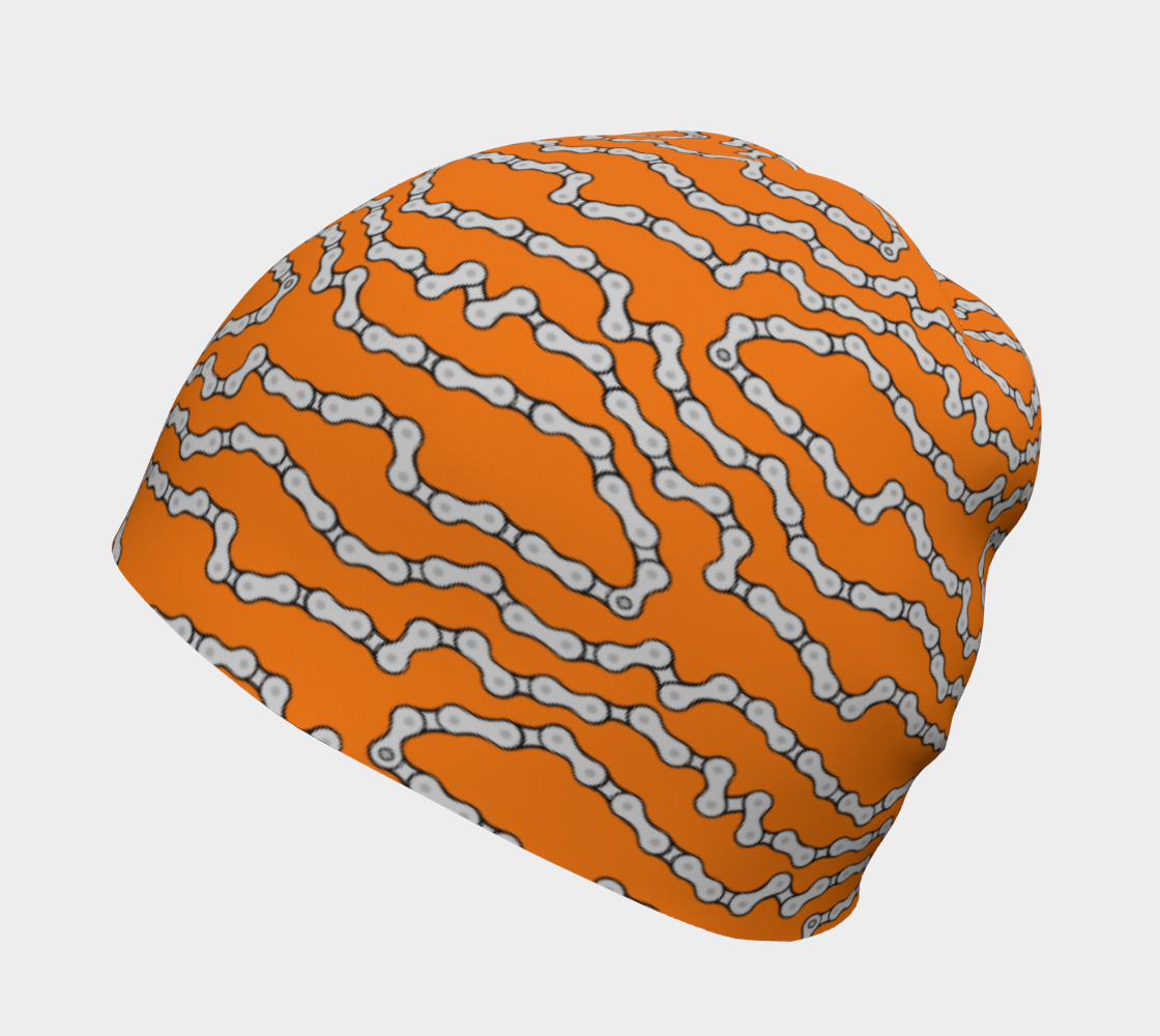 Aperçu de Bike Chain Beanie Hat - Orange #2