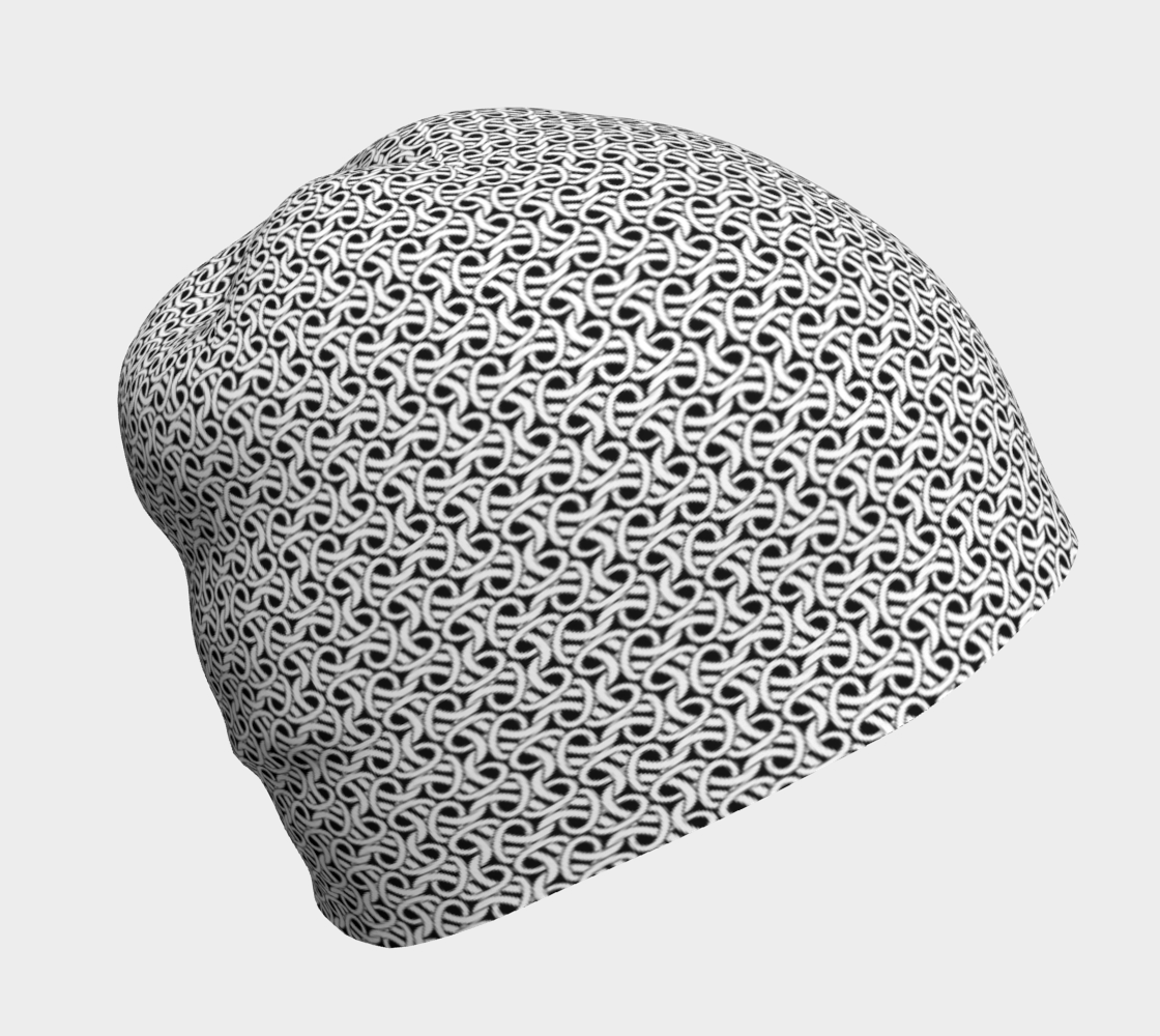 Chain-mail, Chain-armour pattern in black and white preview