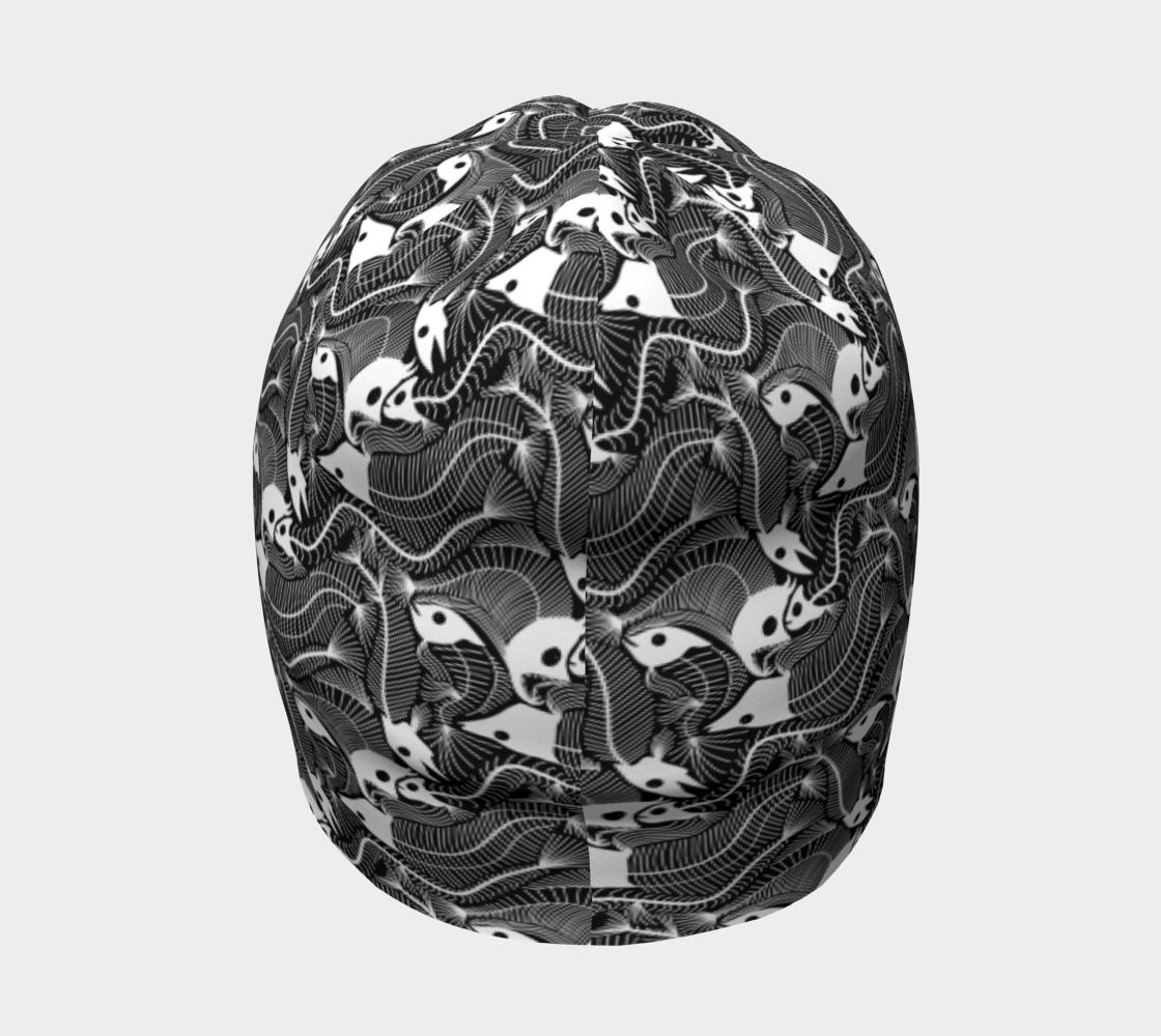 Aperçu de Fish Bones pattern in black and white #4