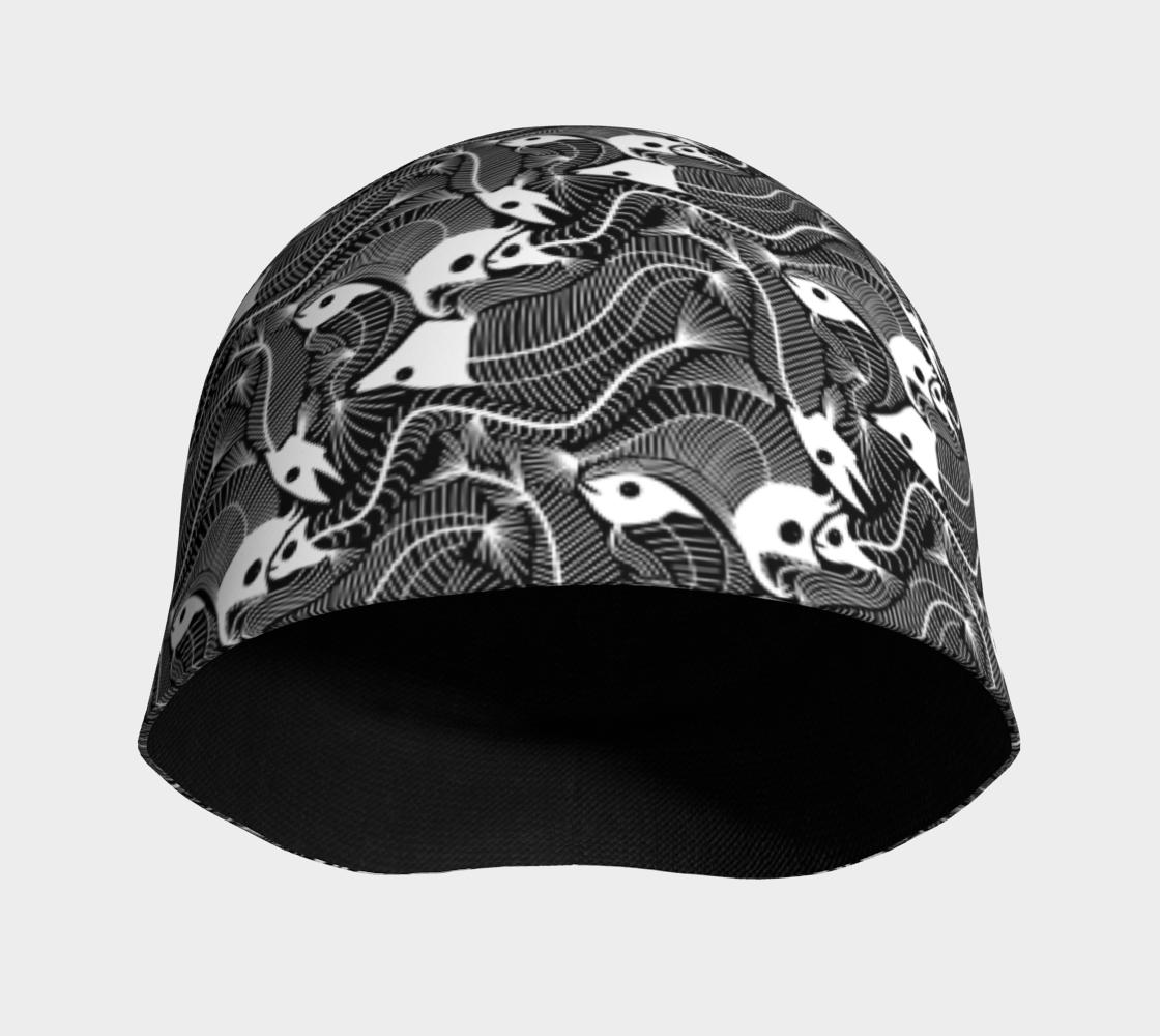 Aperçu de Fish Bones pattern in black and white #3