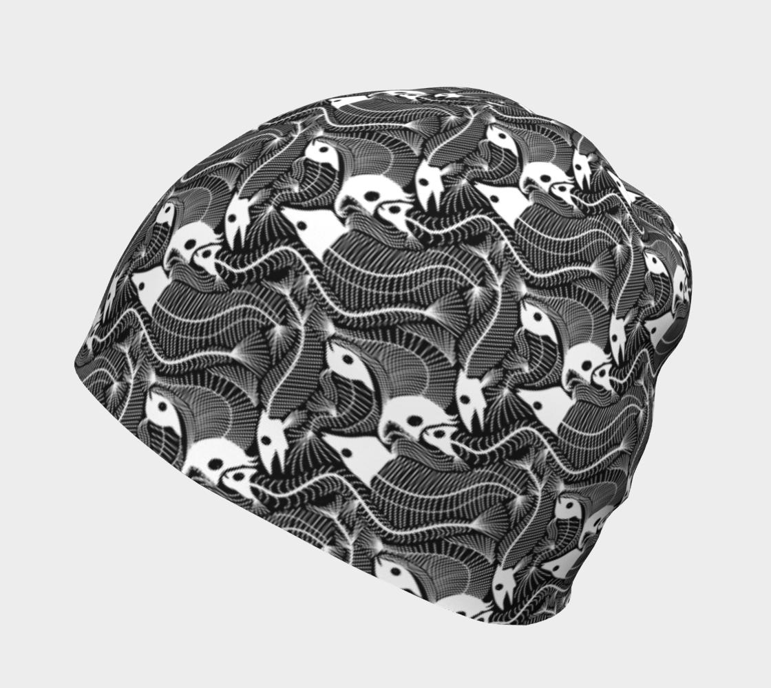 Aperçu de Fish Bones pattern in black and white #2