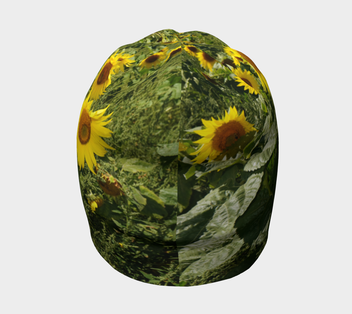Sunflower and Greenery Beanie preview #4