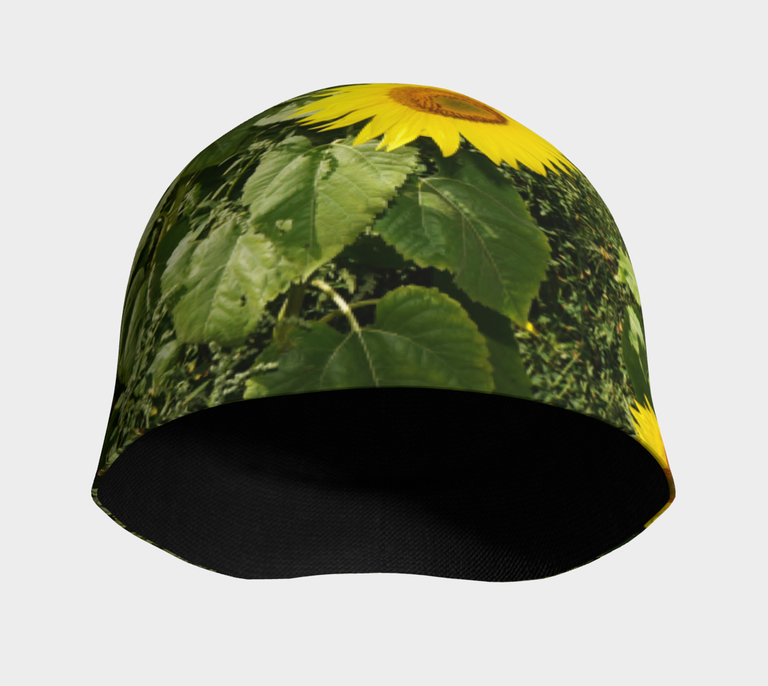 Sunflower and Greenery Beanie preview #3