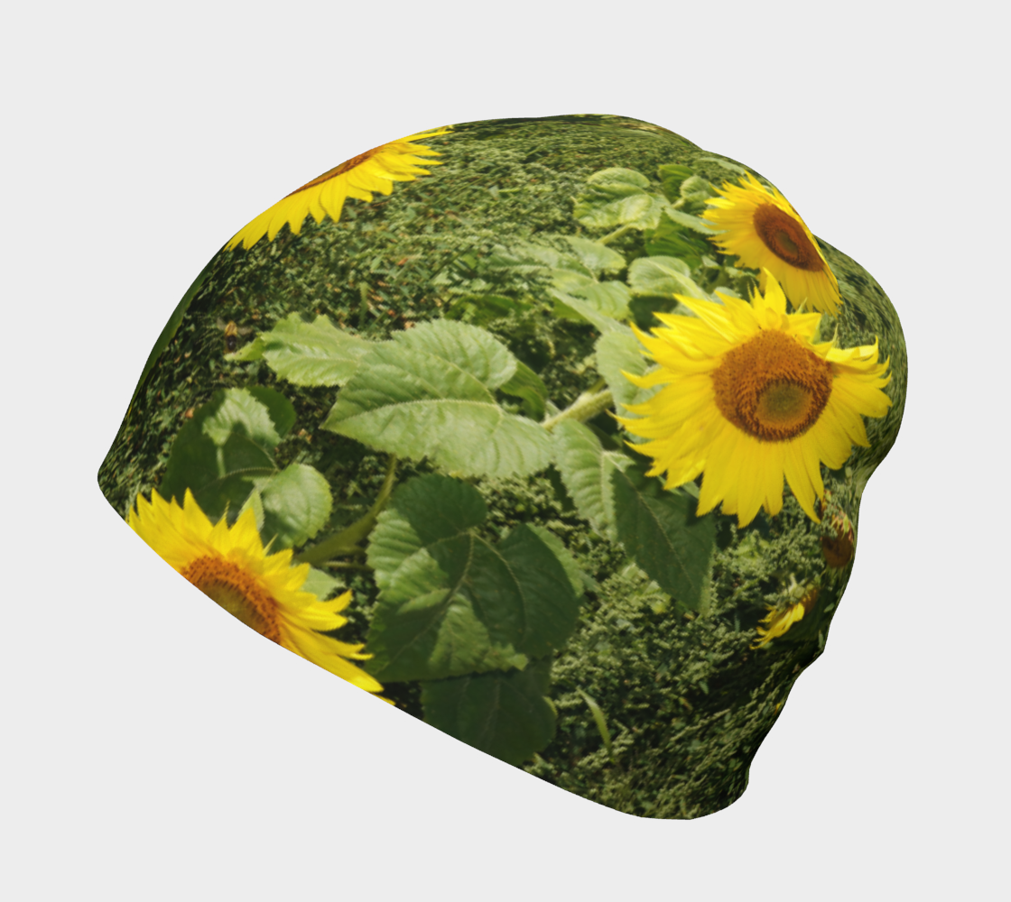 Sunflower and Greenery Beanie preview #2