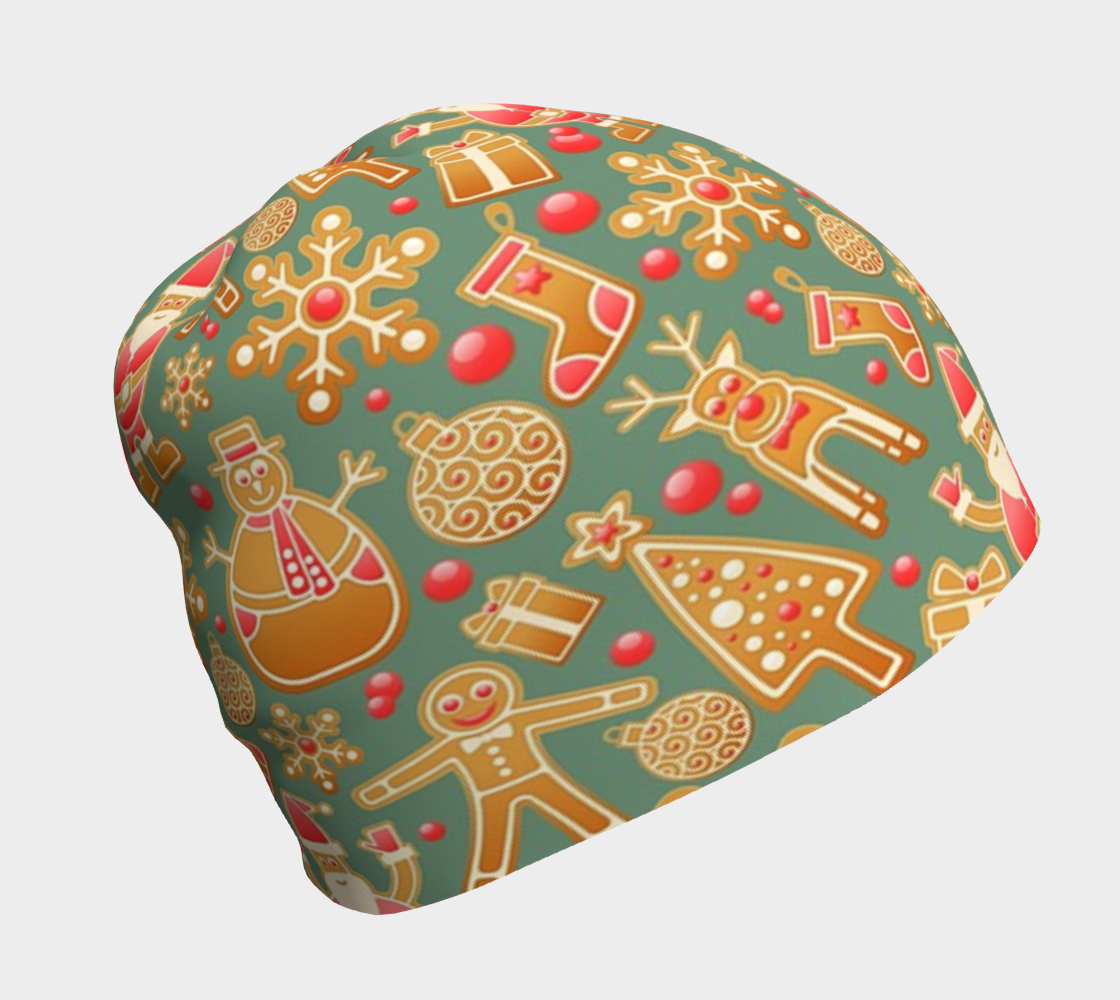 1950s Gingerbread Christmas Beanie preview