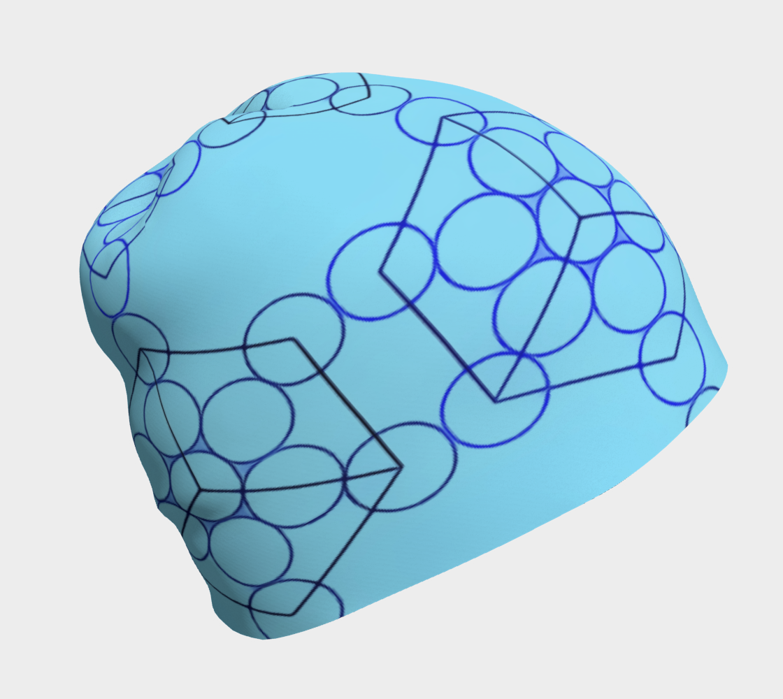 Geometric Tiling Blue Beanie preview