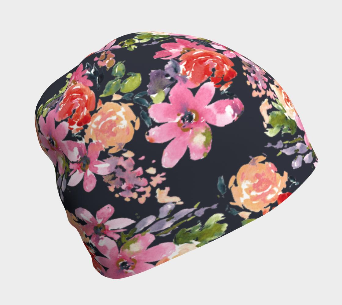 Aperçu de Indigo Floral Beanie