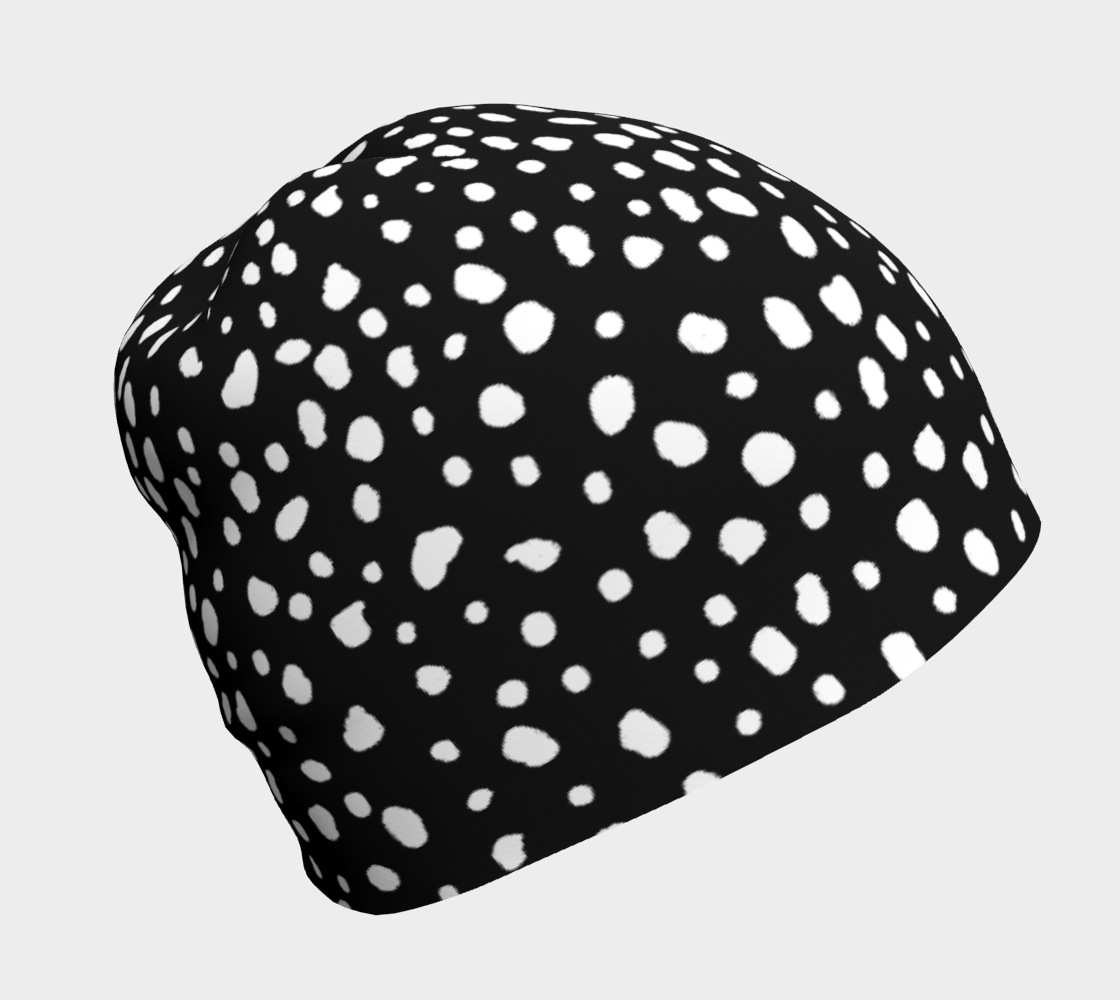 Reverse Dalmation - Beanie 3D preview