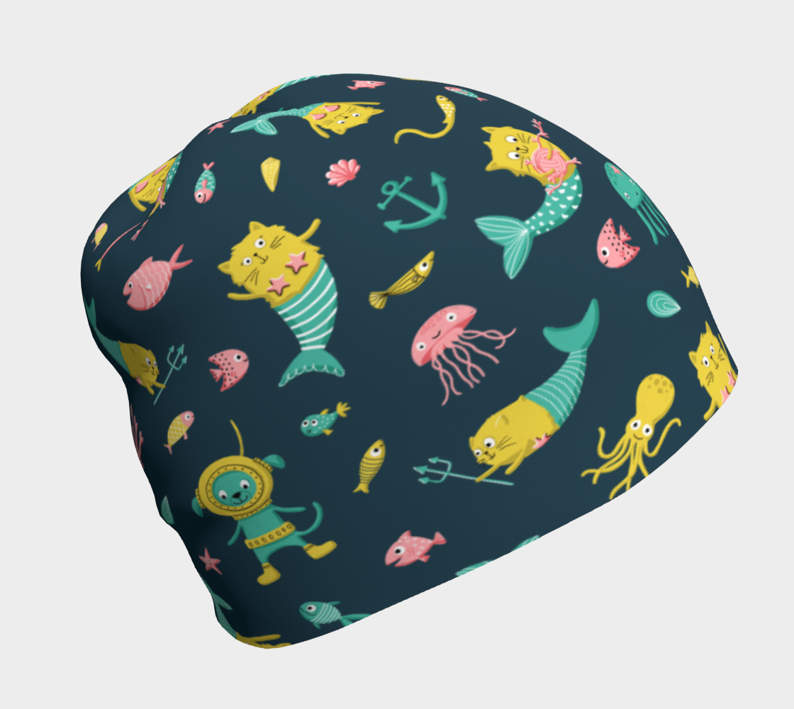 Mercats & Purrmaids - Beanie preview