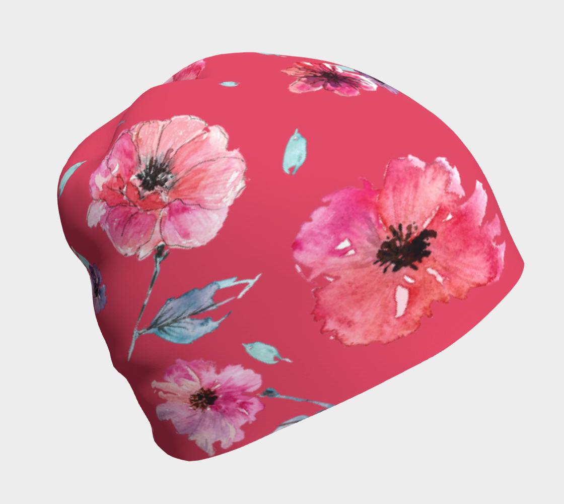 Aperçu de Coral Poppy Beanie