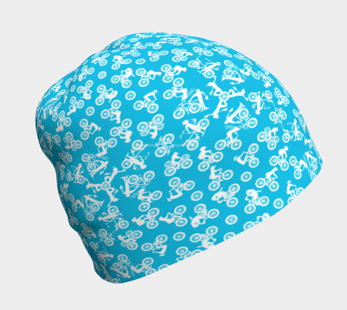 Bikers Everywhere - White on sky blue preview
