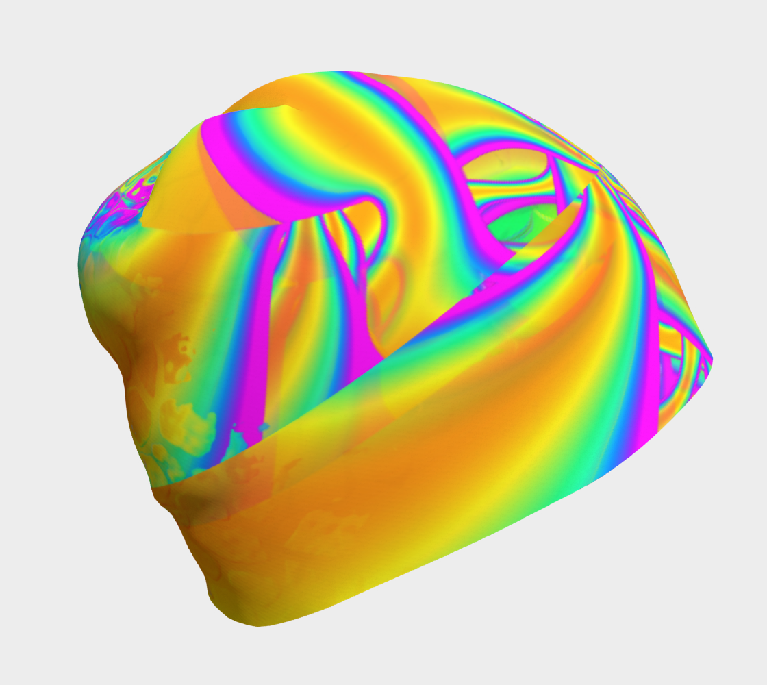 Aperçu de Funkidelic Dichroic Fused Glass Fractal 2