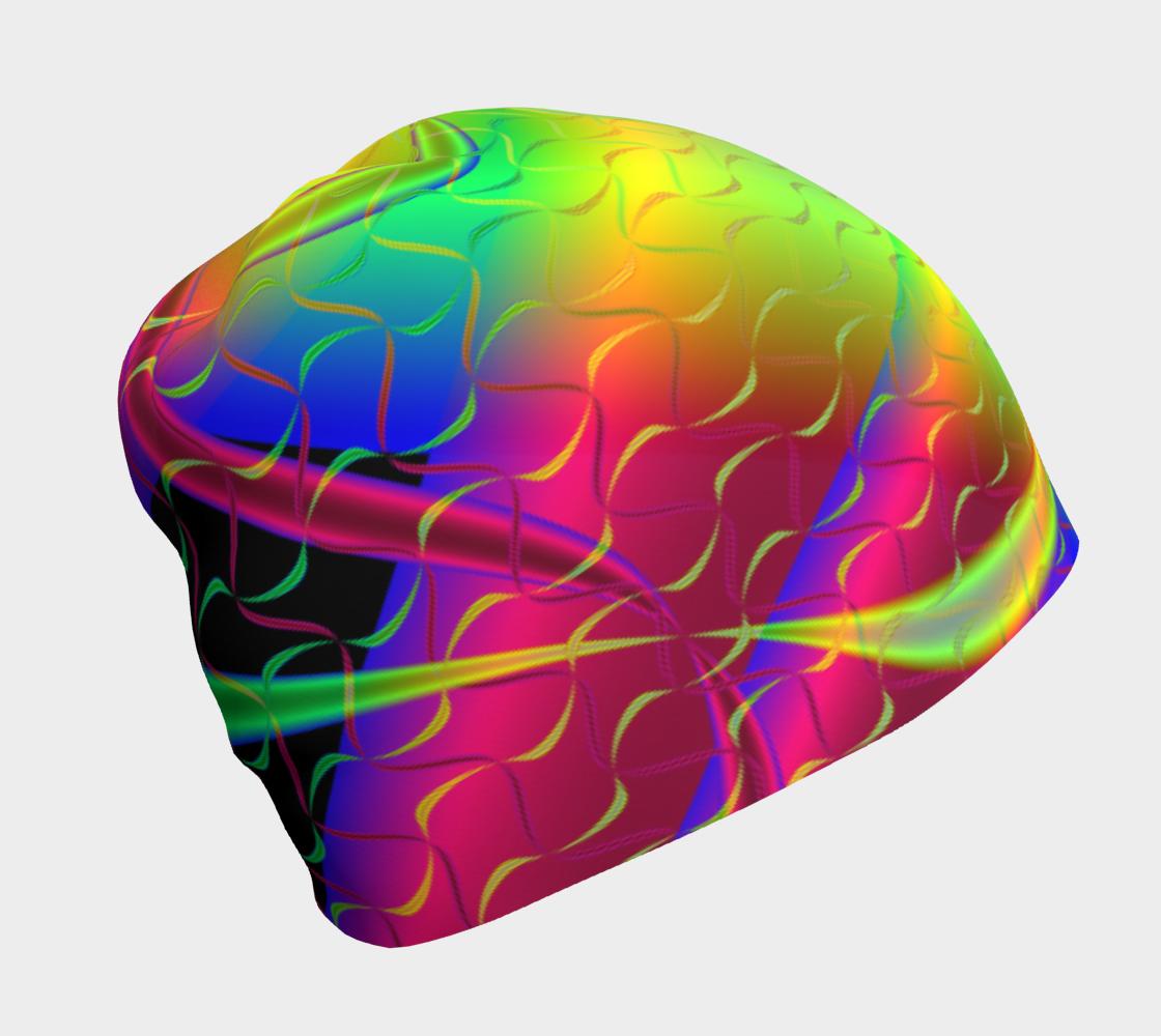 Aperçu de Funkidelic Dichroic Fused Glass Fractal 3