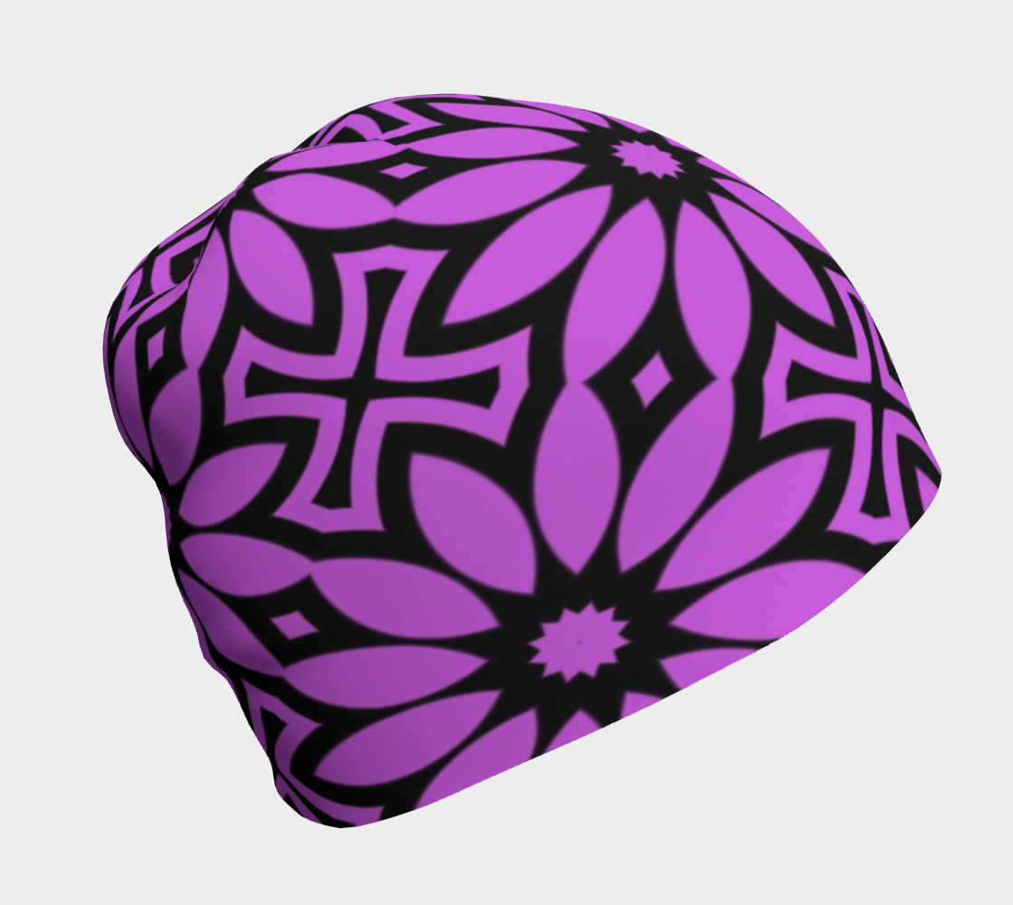 Flower Pattern in Fuchsia and Black preview