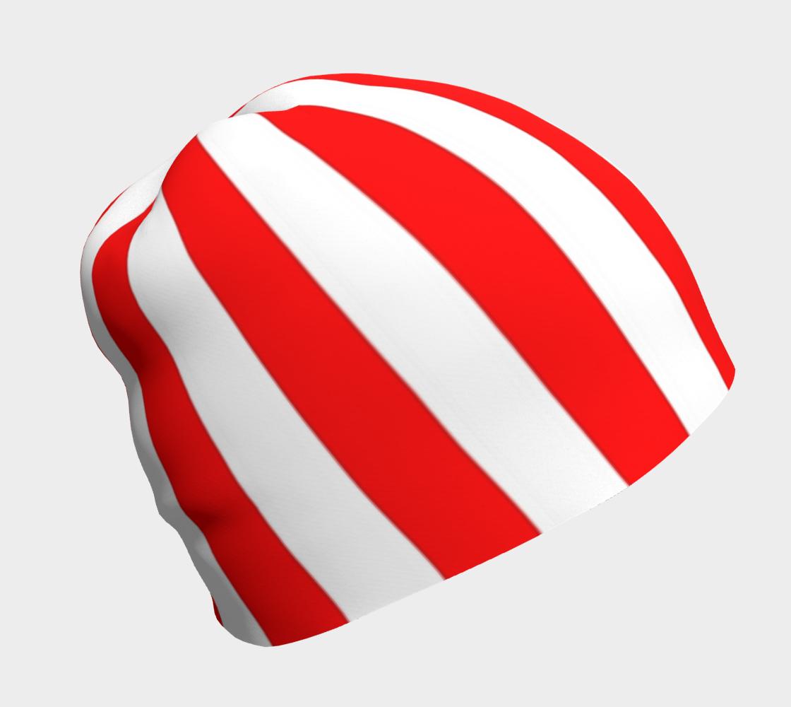 Kandi Kayne red white stripe beanie preview