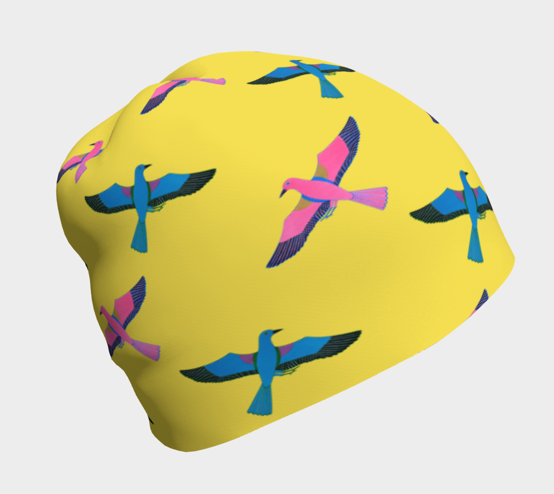 Flying Birds on Yellow preview