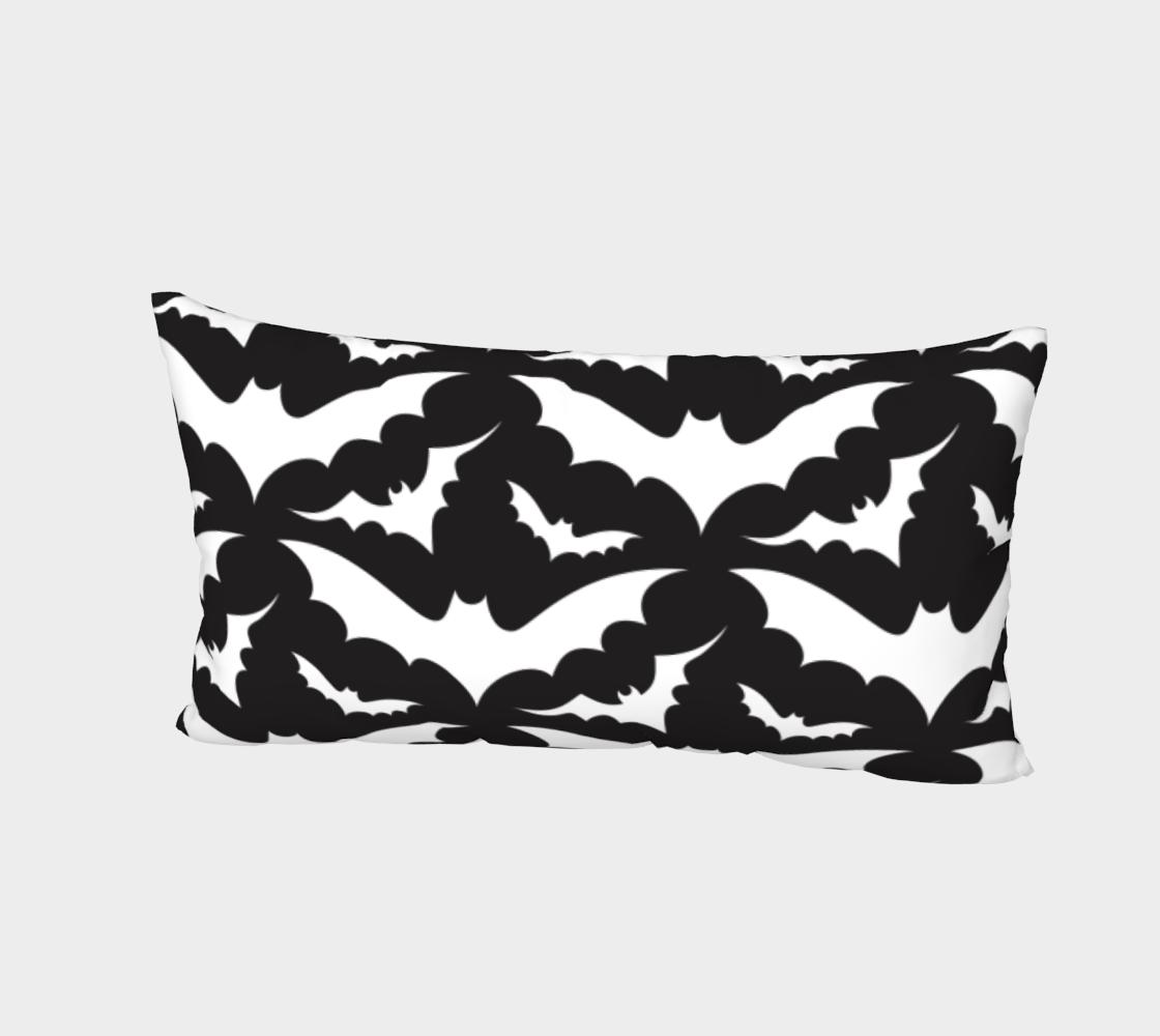 Aperçu de Black Bats Pillow Sham #2