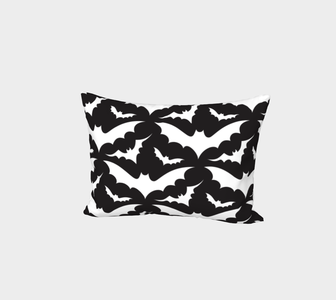 Black Bats Pillow Sham aperçu