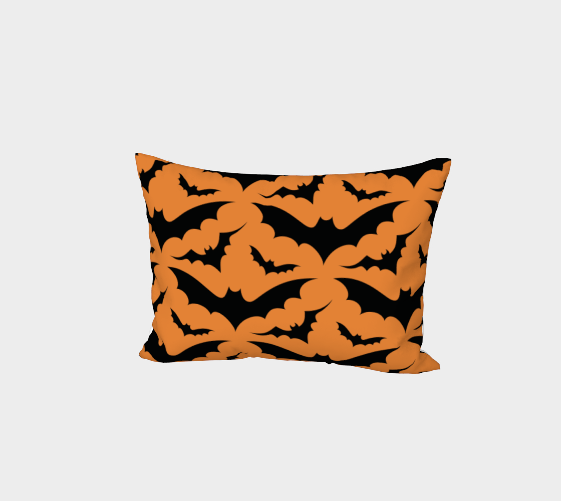 Orange Bats Pillow Sham aperçu