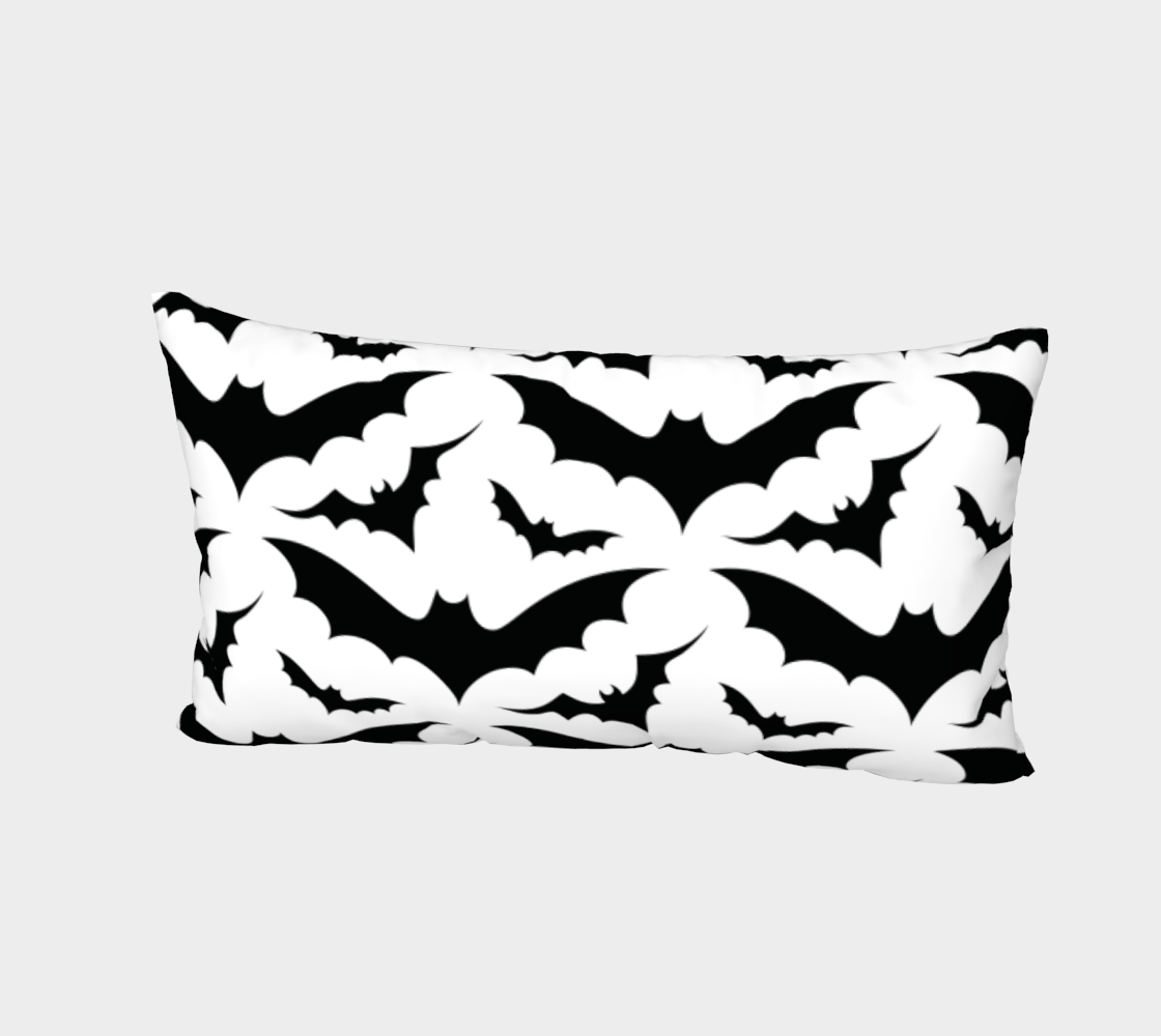 White Bats Pillow Sham preview #2