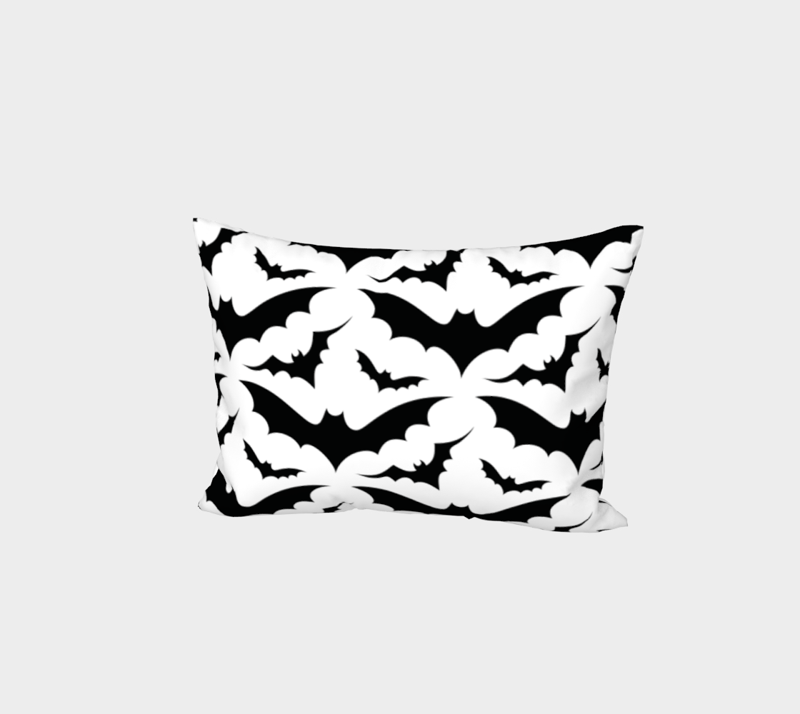 White Bats Pillow Sham aperçu