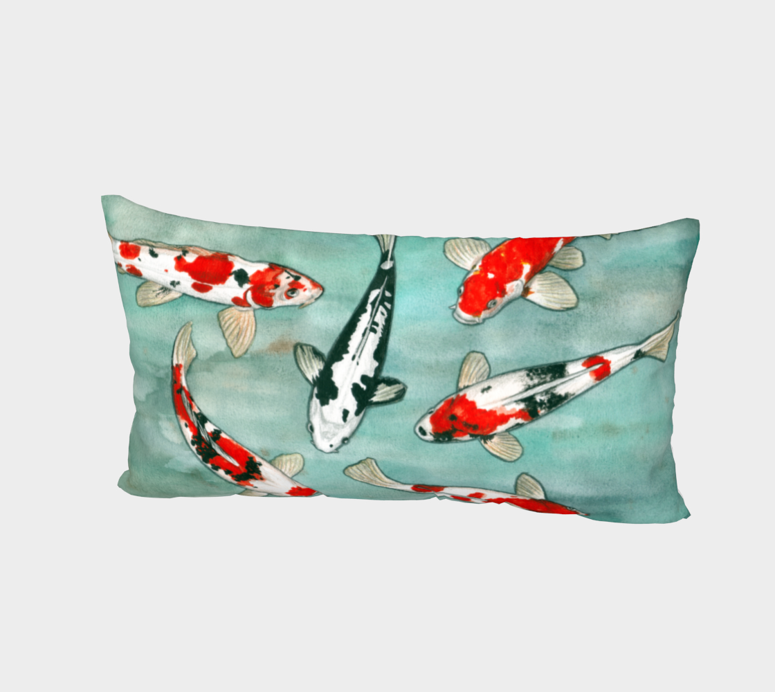 Le ballet des carpes koï Bed Pillow Sham Miniature #3