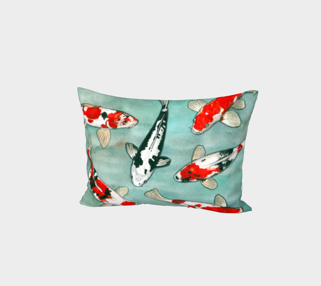 Le ballet des carpes koï Bed Pillow Sham aperçu