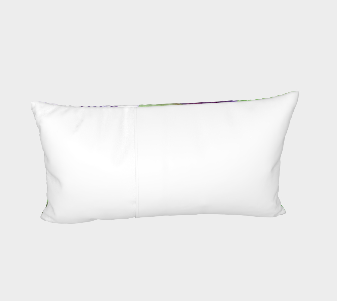 Aperçu de Purple and white pansies flowers Bed Pillow Sham #4