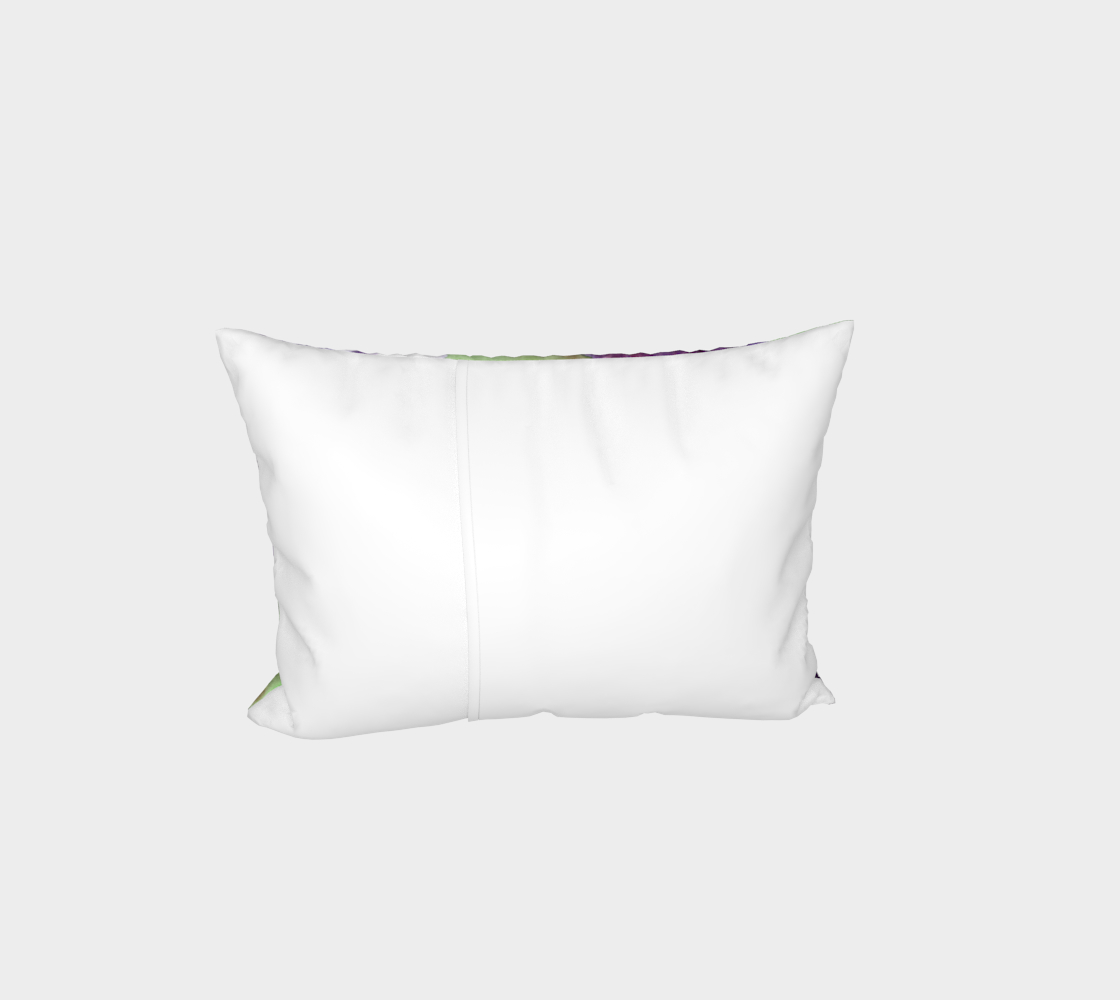 Purple and white pansies flowers Bed Pillow Sham preview #3