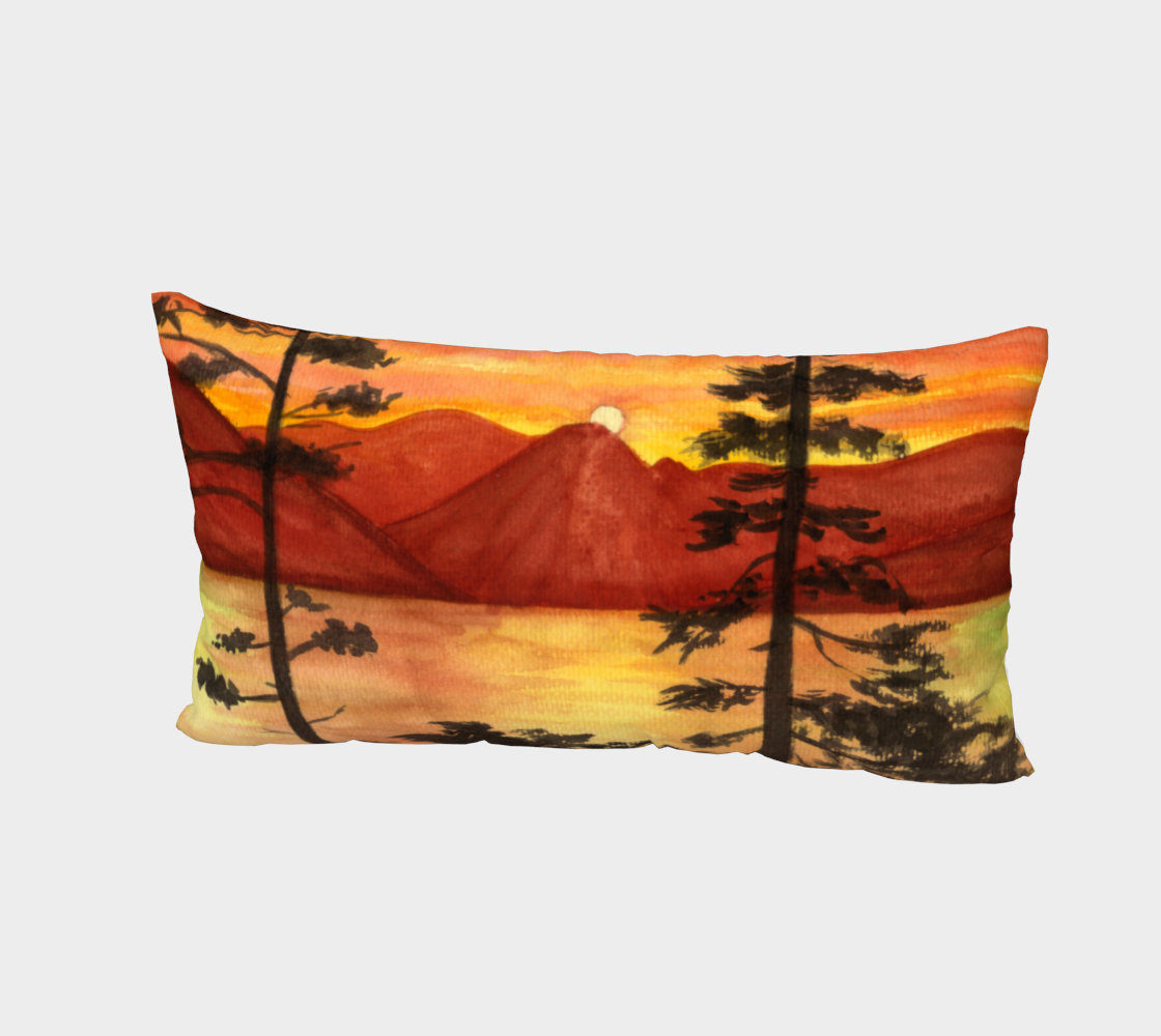 Aperçu de Sunset landscape Bed Pillow Sham #2