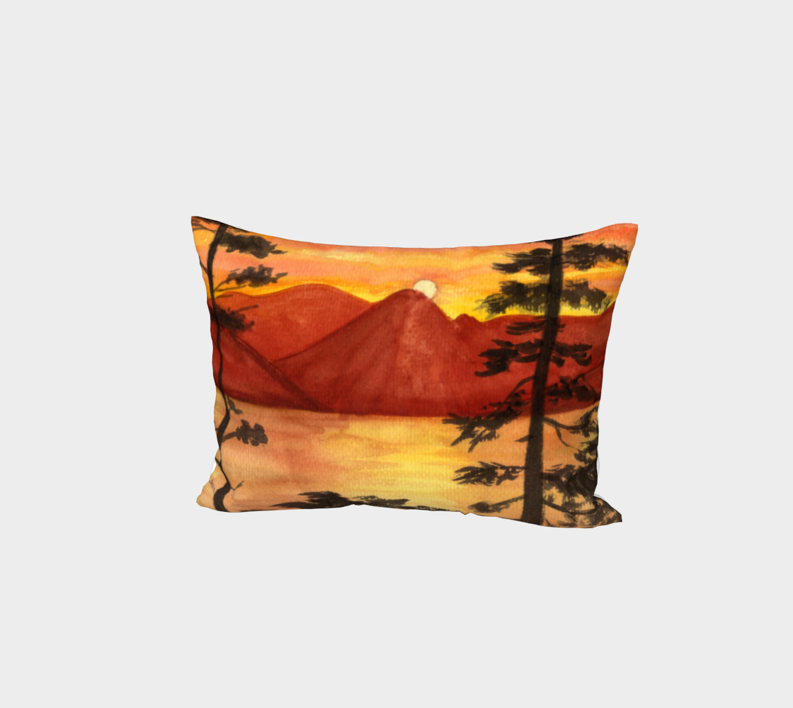 Sunset landscape Bed Pillow Sham aperçu