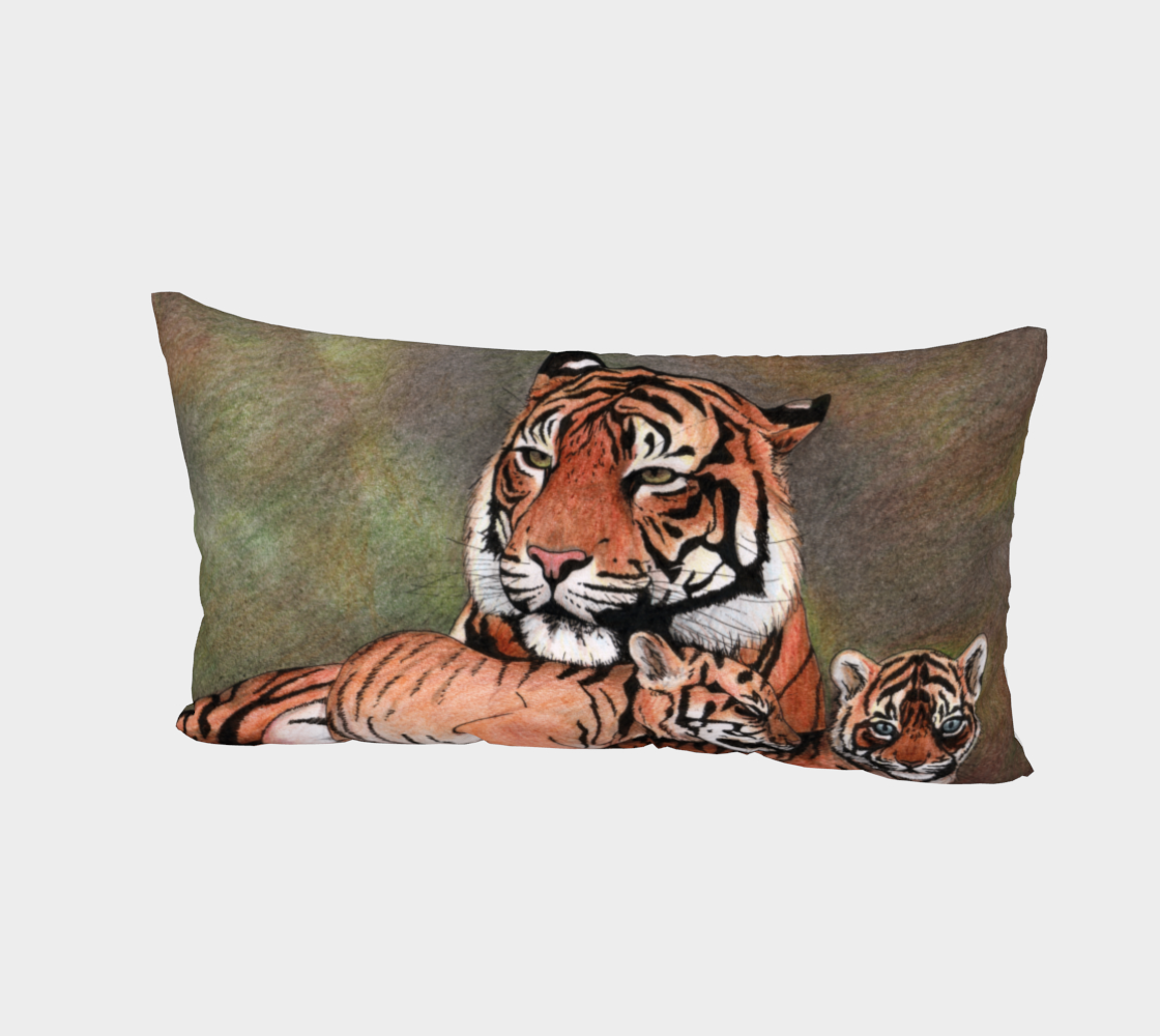 Family tigers Bed Pillow Sham preview #2