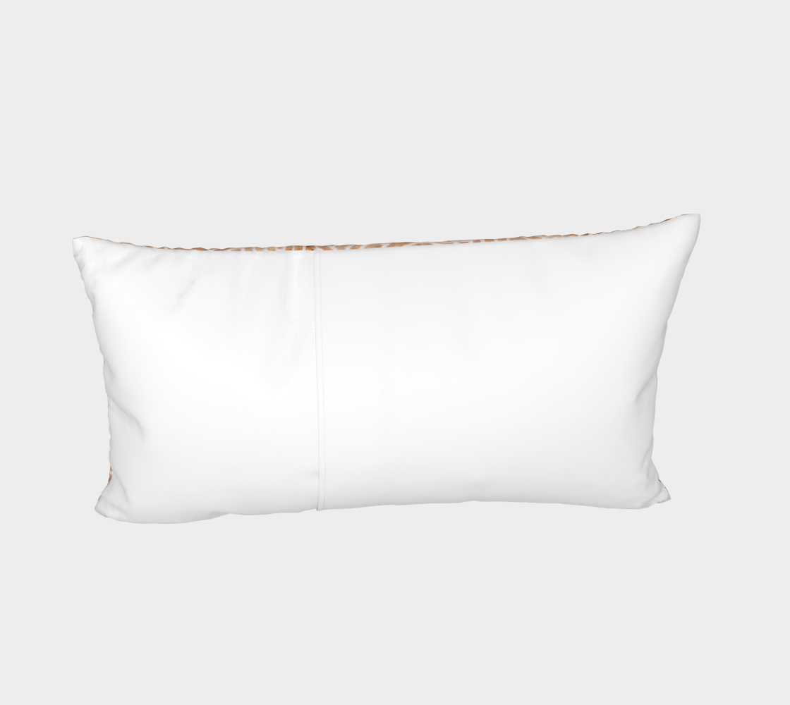 Iced coffee and white swirls doodles Bed Pillow Sham preview #4