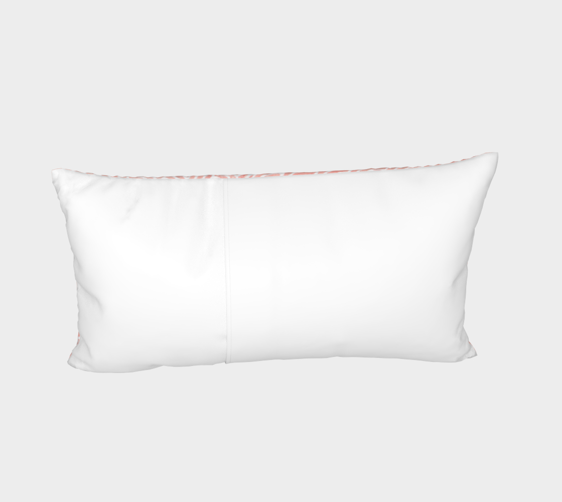 Rose quartz and white swirls doodles Bed Pillow Sham preview #4