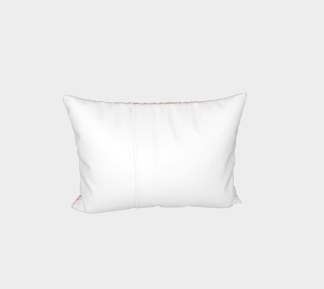 Rose quartz and white swirls doodles Bed Pillow Sham preview #3