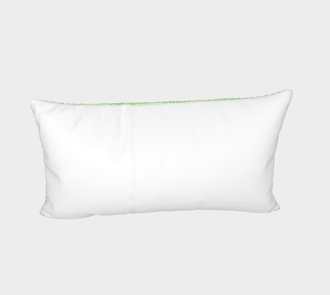 Greenery and white swirls doodles Bed Pillow Sham preview #4