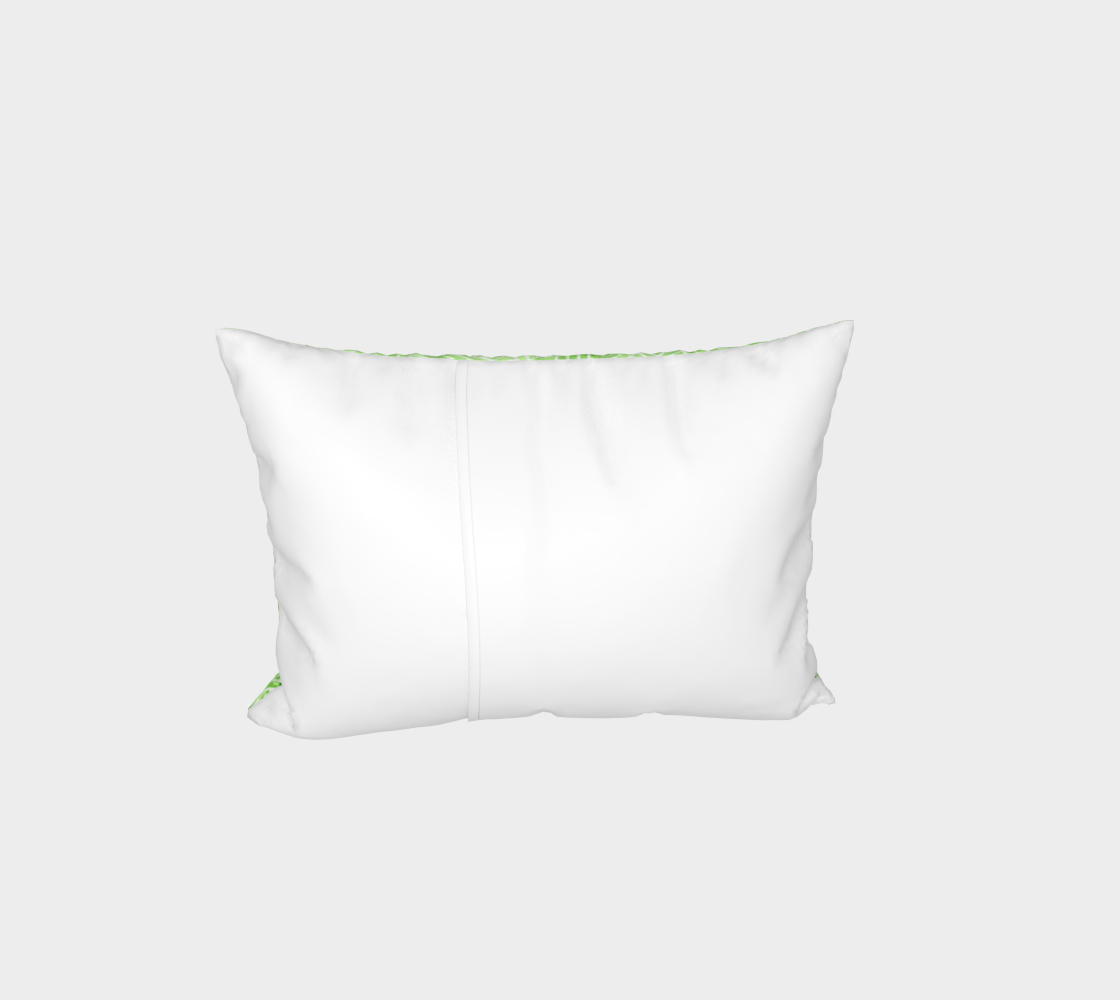 Greenery and white swirls doodles Bed Pillow Sham preview #3