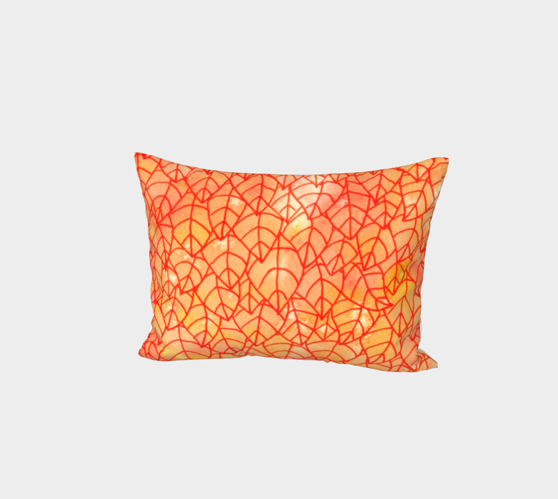 Autumn foliage watercolor Bed Pillow Sham preview